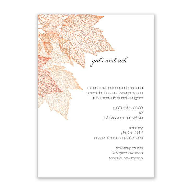 50 best Autumn Wedding Invitations Ideas for Fall images on ...