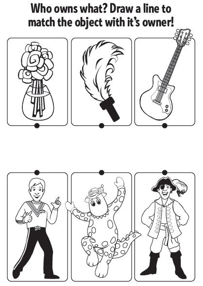 Who owns what? Let your child draw a line to match the object and its owner! #kid #activity