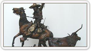 Vaquero (Dr. Johnny Moreno in bronze!) History In Bronze - Artesia Mainstreet | Downtown - Artesia, New Mexico