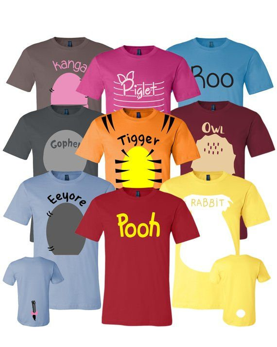Pooh & Friends Inspired Adult, Youth, Toddler Shirt – Halloween Cosplay Costumes For Cruises, Family Trip and Group Event Shirts