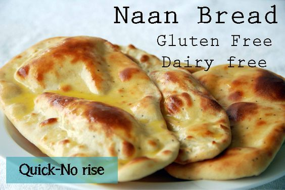Gluten Free Naan Bread- Quick, No Rise