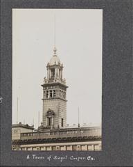 [A. Riverside Park. ; B. Tower of Siegel Cooper company.]