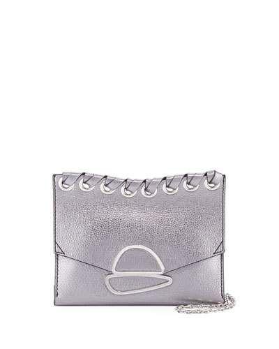 V3QGD Proenza Schouler Small Curl Metallic Whipstitch Clutch Bag