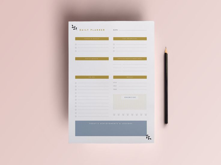 Daily Planner Printable | A4 Planner by The Template Depot on @creativemarket