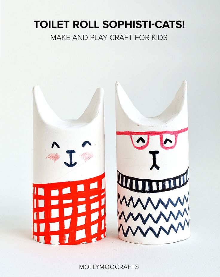 toilet rolls crafts for kids - how to make toilet roll cats
