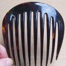 Bijoux de cheveux, Peigne en corne naturelle 1840-1860 est une création orginale de altekamme sur DaWanda