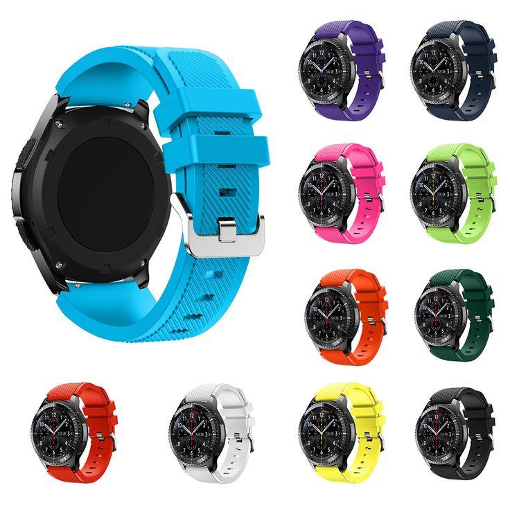 Cindiry 12 colores deportes de la moda pulsera de silicona suave correa band para samsung gear s3 frontera p20