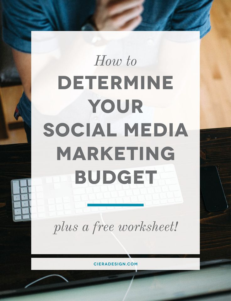 """Having a hard time figuring out how to allocate money to social media marketing...or even how much? Don't miss Ciera Holzenthal's """"How to Determine Your Social Media Marketing Budget"""""""