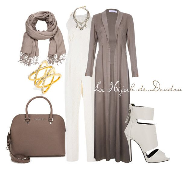 """Hijab Outfit"" by le-hijab-de-doudou ❤ liked on Polyvore featuring Emilia Wickstead, BCBGMAXAZRIA, MICHAEL Michael Kors, maurices, Giuseppe Zanotti and BaubleBar"