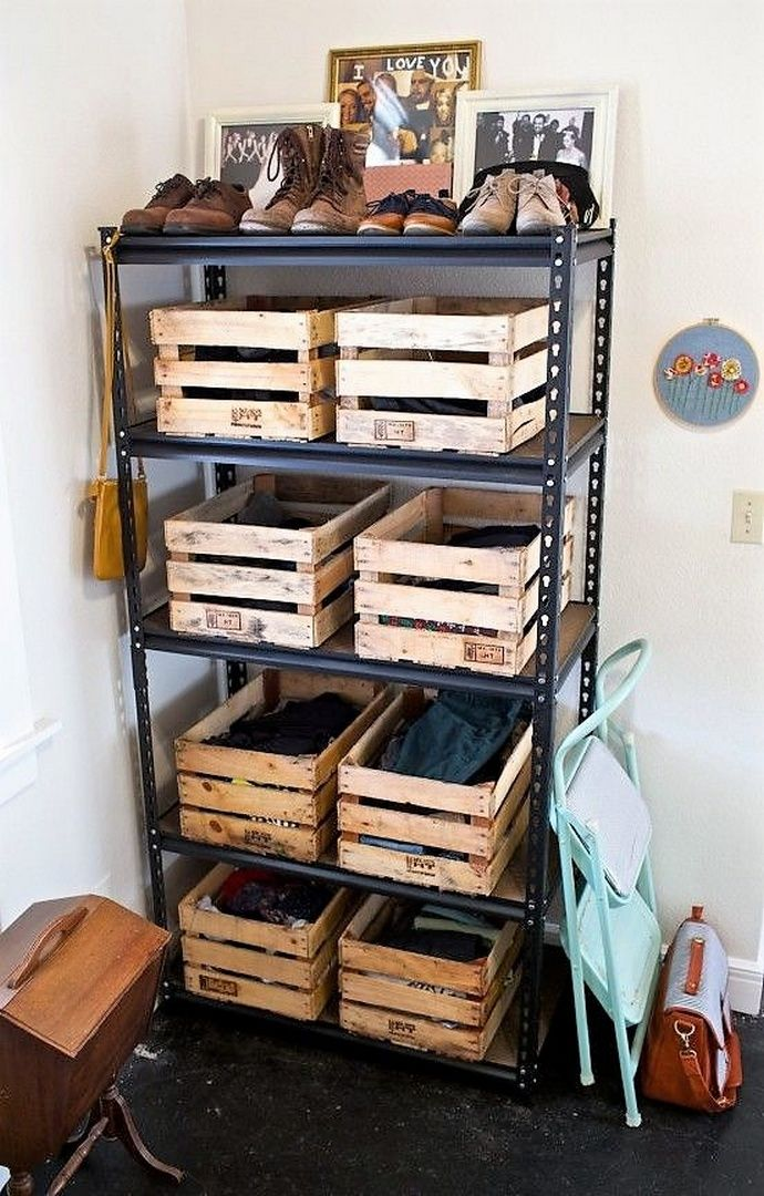These fruit crates can simply be used almost everywhere. Use them in your store rooms, kitchen, dressers, bathrooms etc. You can put them in the shelves to add up the utility of storing goods. The mess will also not be visible to you or your guests giving neat and tidy look to your house.