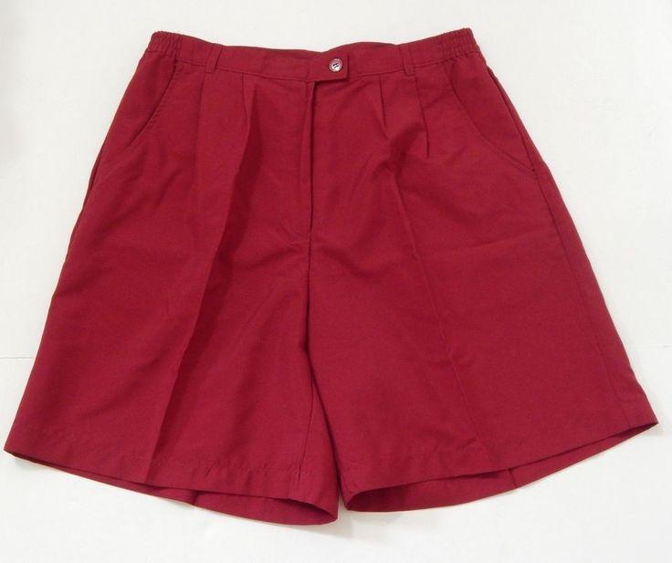 Allyson Whitmore Petite Women's Red BurgundyGolf Shorts Size 12P NWT #AllysonWhitmore #Shorts