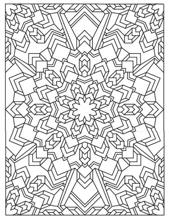 Mandala 625, Creative Haven Mandala Madness Coloring Book, Dover Publications
