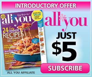 All You Magazine $5 a YEAR! I love this magazine. It is packed with coupons.