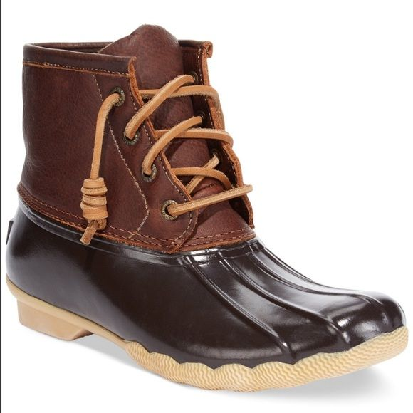 Sperry Bean Boots! New! The Sperry version of bean boots. Only worn once and not in snow. Size 6.5 (not ll bean) L.L. Bean Shoes Winter & Rain Boots