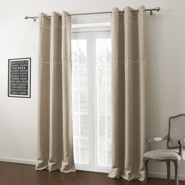 Solid contemporary room darkening curtain curtains decor for Cortinas blancas para sala