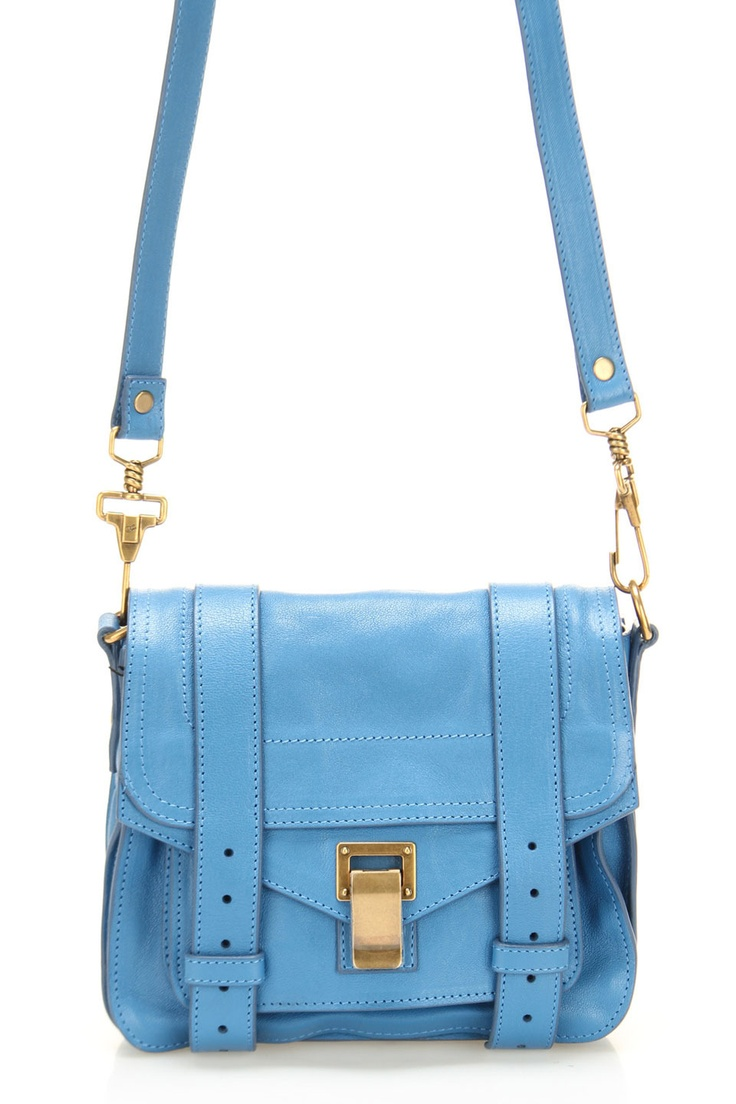 Proenza Schouler PS1 Pouch Crossbody In Sky Blue - Beyond the Rack