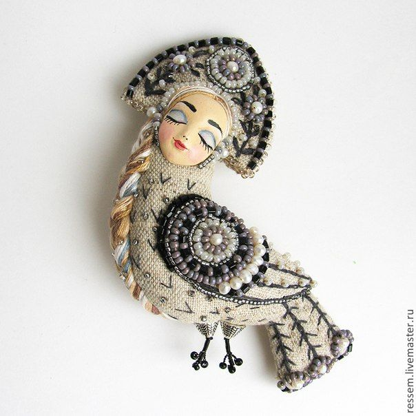 Handmade Brooch by Russian Artist Maria Knutova   VK