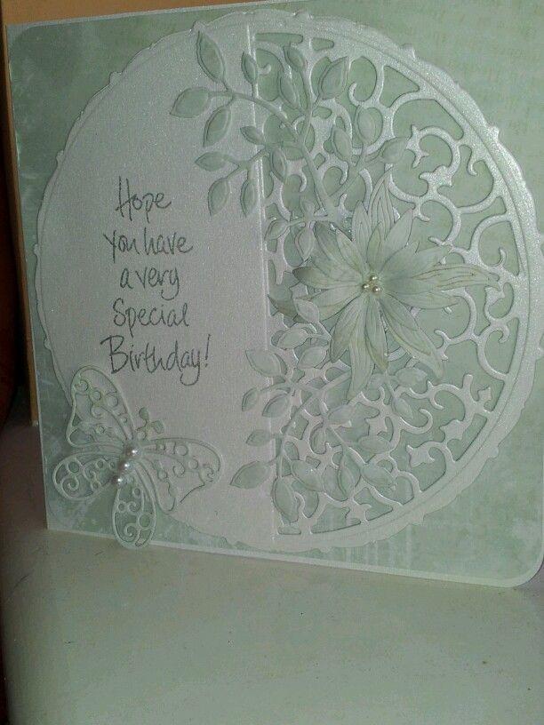 Birthday card using Tonic and Spellbinder dies