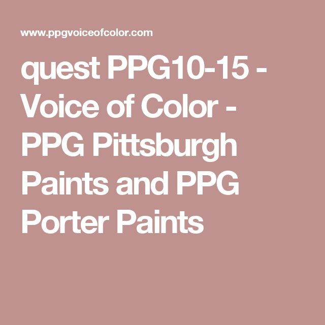 quest PPG10-15 - Voice of Color - PPG Pittsburgh Paints and PPG Porter Paints