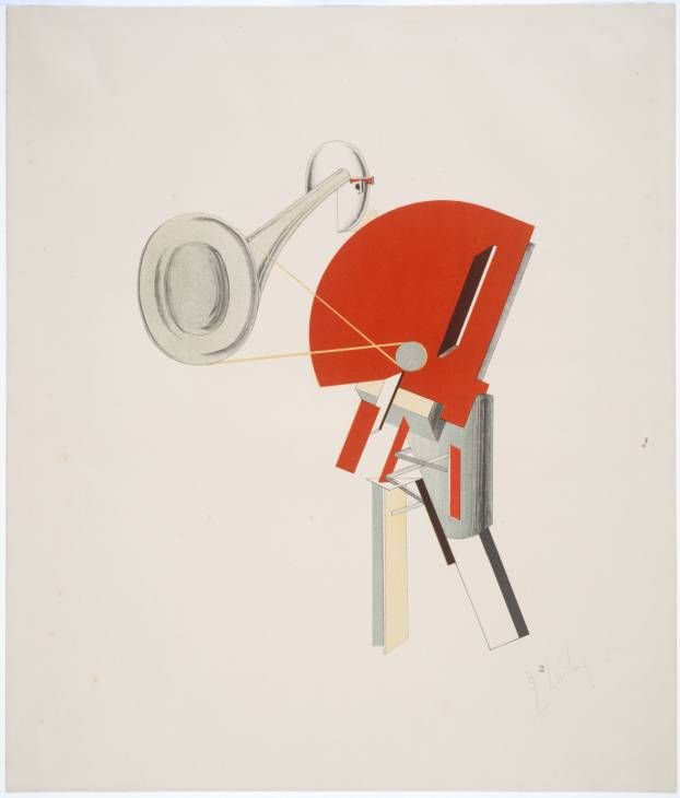 El Lissitzky '2. The Announcer', Lithograph on paper, 1923