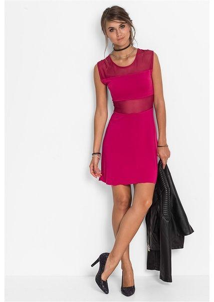 Sukienka shirtowa z wstawkami Z • 89.99 zł • bonprix
