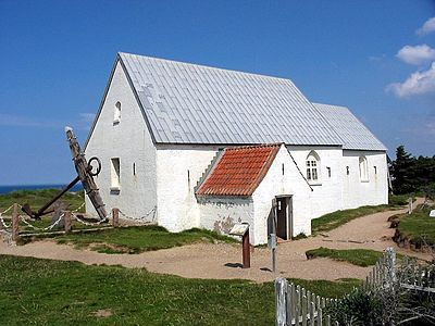 Mårup kirke - Lønstrup - today 17-09-2015 now demolished - The North Sea have eaten the beach