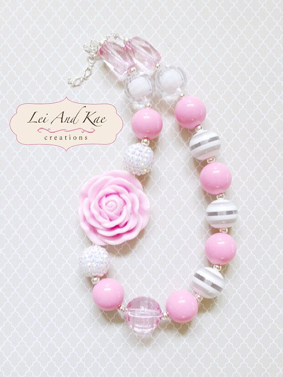 SALE:  Girls Easter Chunky Bubble Gum Necklace - Photo Prop Fashion Accessory on Etsy, Sold
