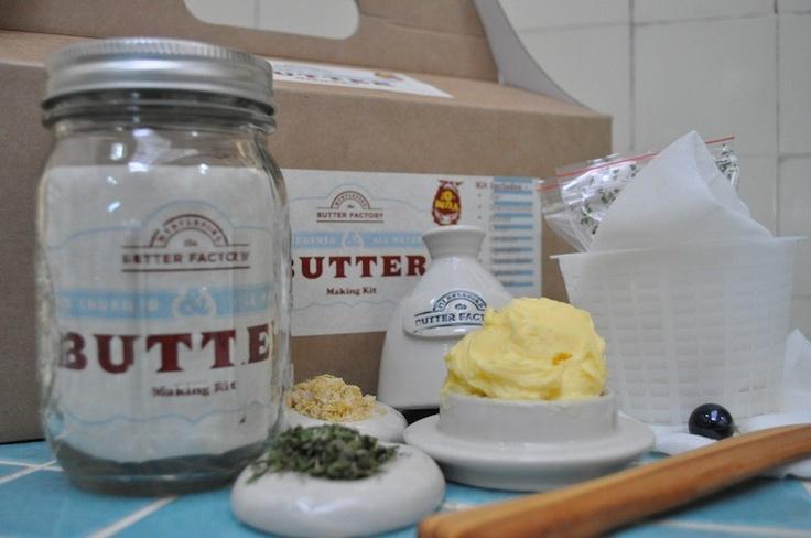 Myrtleford Butter Factory - Butter Making Kit, $55.00 (http://www.thebutterfactory.com.au/butter-making-kit/)