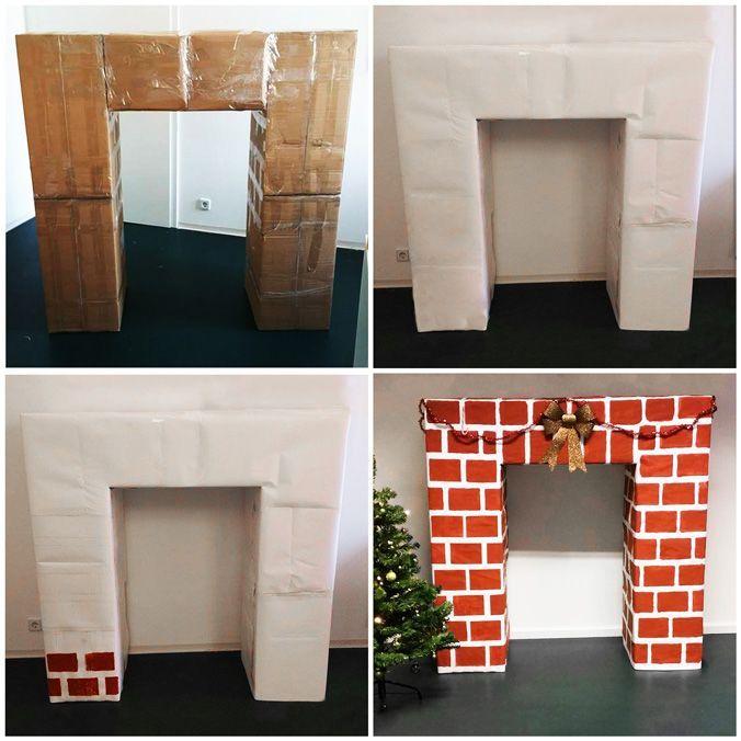 7 best kamin aus karton bauen images on pinterest. Black Bedroom Furniture Sets. Home Design Ideas