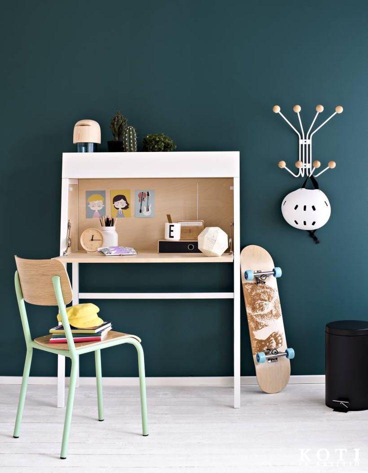 Näin sisustat koululaisen huoneen: lastenhuone, lastenhuoneen sisustus, kekseliäät ratkaisut lastenhuoneeseen, moderni lastenhuone, tyylikäs lastenhuone, scandinavian living, children's bedroom, finnish design