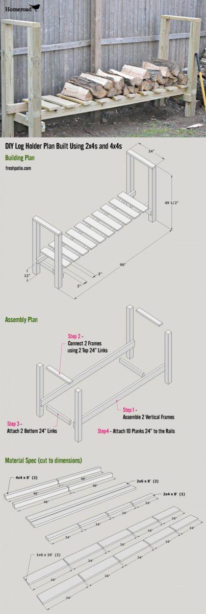 Free Firewood Rack Plan 2