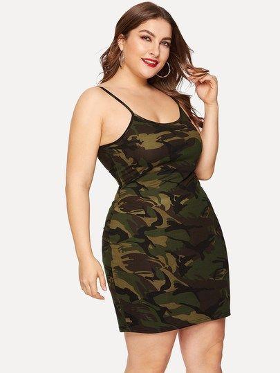 4925b343708f9 Plus Camo Print Cami Dress [swdress03190220104] - $22.00 : cuteshopp.com