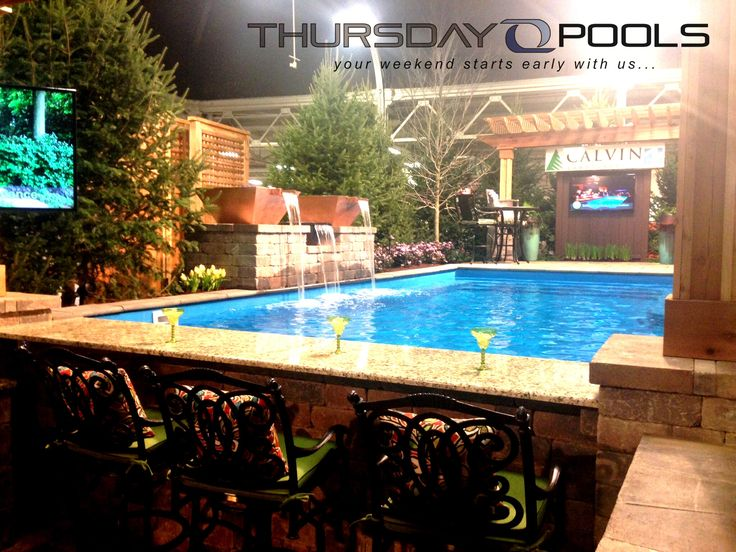 66 best thursday pools fiberglass swimming pool images on for Pool design show