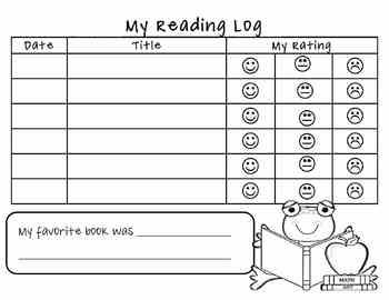 This reading log is a great way for students and teachers to keep a record of their reading at home or in school!  Students record the date, title,...