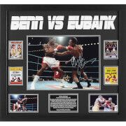 #All Star Signings Nigel Benn and Chris Eubank Dual Signed 16 x 12 #In 1990, Chris Eubank and Nigel Benn fought for the first time. At stake was the World Middleweight title. The two men could not stand each other; it was a genuine grudge match. Eubank saw himself as an aristocrat of the ring, a craftsman. Benn was happy to be painted as a gladiator, a violent punching ring warrior. It was a contest that would go down in British boxing history. The fight was both brutal and breathtaking with…