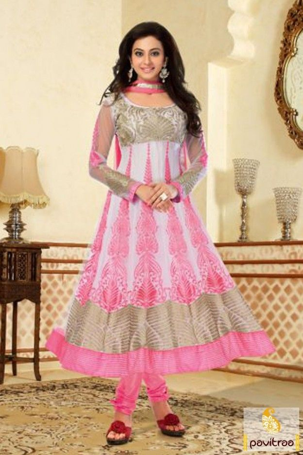 Online shopping  bollywood actress rakul preet singh style classy grey and pink Anarkali Salwar suit is designed with fully and heavy embroidery work with full sleeves. @ http://www.pavitraa.in/store/anarkali-salwar-suit/classy-grey-and-pink-anarkali-salwar-suit/?rk&utm_medium=pinterestpost&utm_campaign=22august