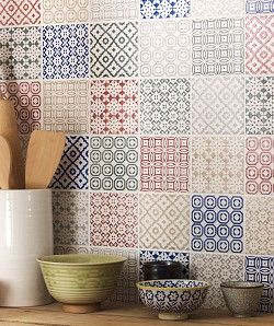 cream patterned kitchen tiles - Google Search