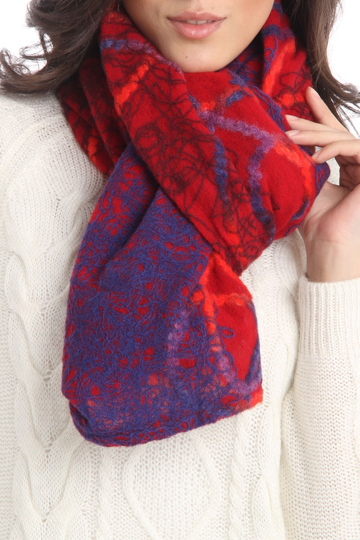 Eyeful Embroidered Squiggle Scarf