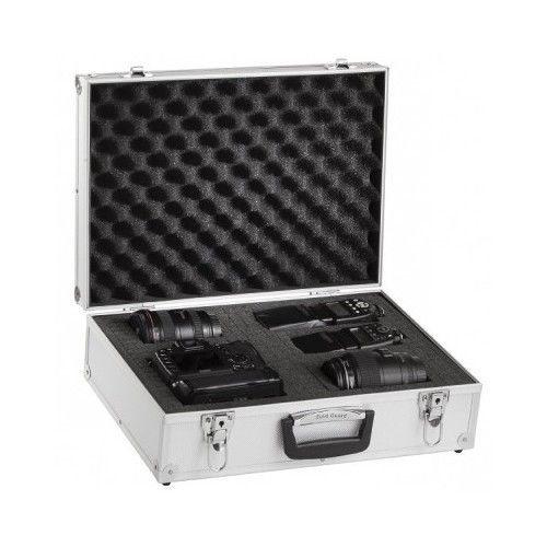Waterproof Camera Case Aluminium Briefcase Foam For DSLR Digital SLR Lens Silver