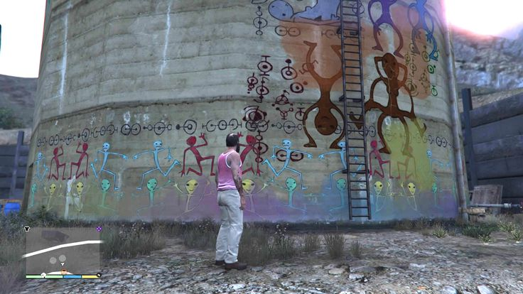 Gta V Treavor And The Alien Graffiti