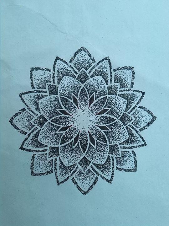 Mandala Blume Tätowierung