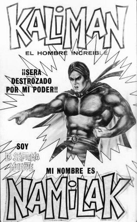 Portada del cómic mexicano Kaliman, el hombre increible.