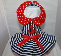 Ahoy Nautical Dress by BOWWOWWEAR on Etsy, $75.00