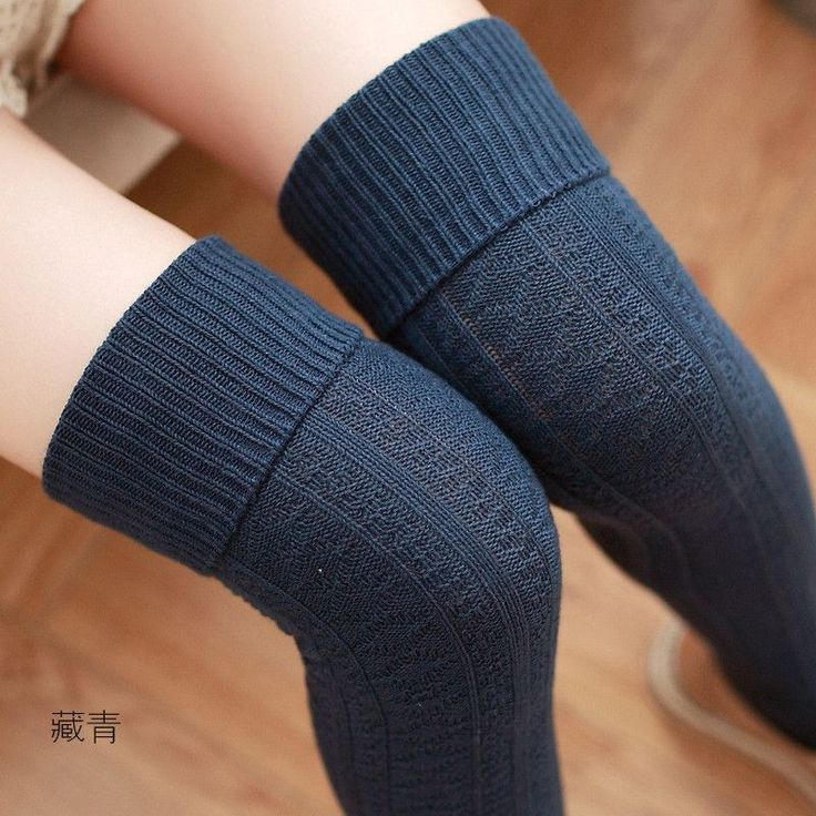 hot sale 2016 autumn winter women cotton jacquard knee socks high socks knee stockings turned mouth solid color College Wind