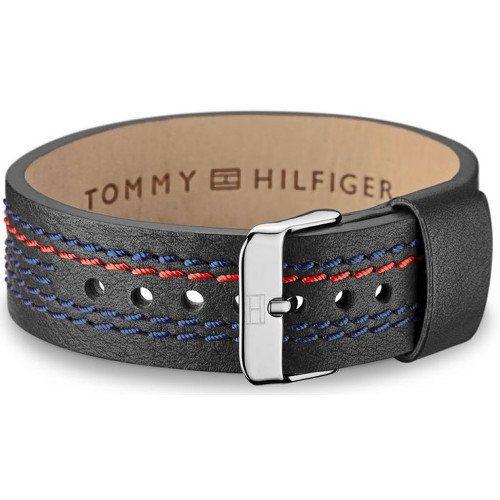 Tommy Hilfiger Černý kožený náramek TH2700686   MALL.CZ