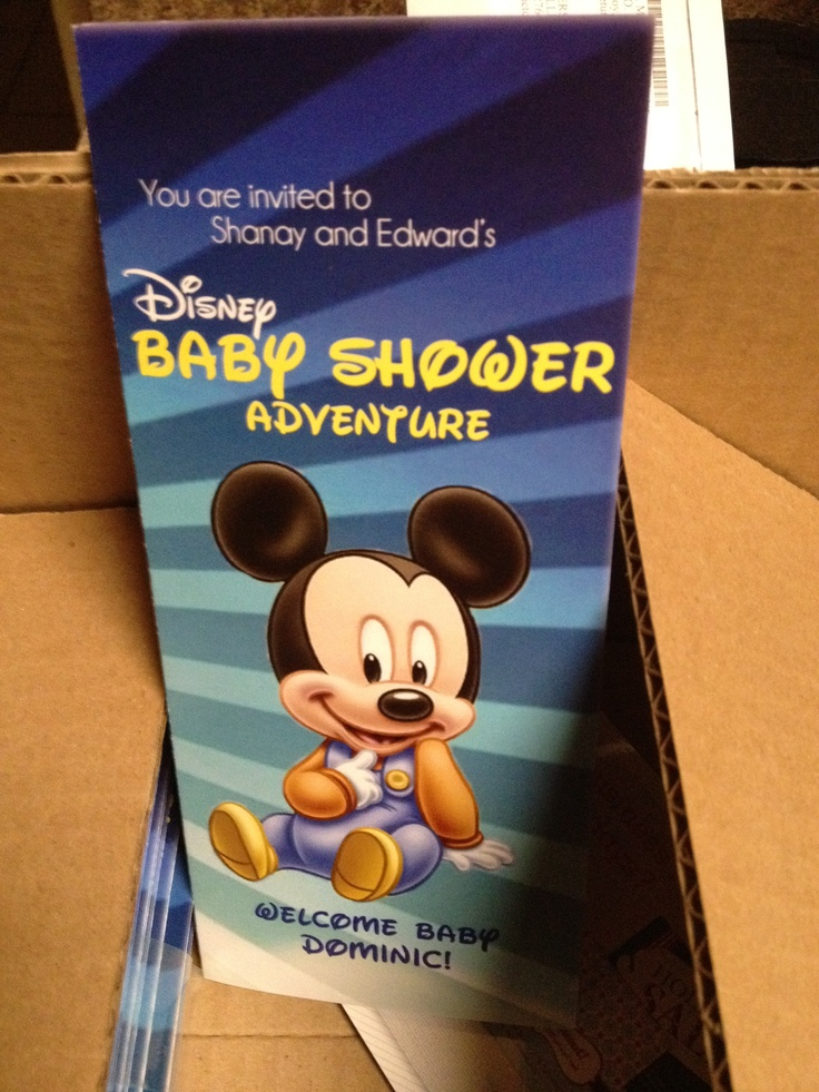 disney themed baby shower invites found shanaysmith 39 s shop on etsy