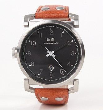 Vestal Observer Brown Leather Watch