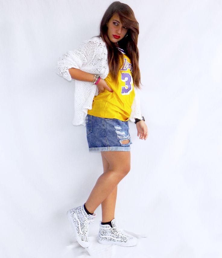 Quando una divisa sportiva può diventare alla moda: Lakers mood! #kissmylook