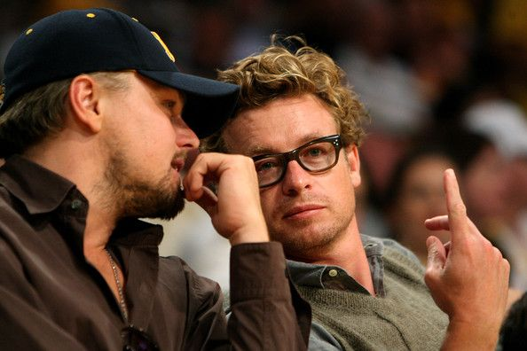Leonardo DiCaprio and Simon Baker Photo - Celebrities Attend NBA Finals Game 2: Orlando Magic v Los Angeles Lakers