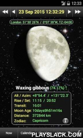 Daff Moon Phase  Android App - playslack.com ,  This application displays current Moon phase, Moon phases for any month and other real-time information about the Moon, the Sun and all other major planets.Main features:★ Current phase and age of the Moon;★ Moon phases calendar and Rise/Set calendar for any month;★ Full Information about Lunar Eclipses with visualization;★ Day-length, Rise and Set times, Zodiac signs, Transit times, Altitude and Azimuth of the Moon, the Sun, Mercury, Venus…